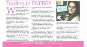 Energy for Education for Straight PR In Business November 2013