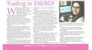 Energy for Education for Straight PR In Business November 2013