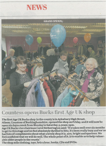 Bucks Herald 5 March 2014 Age UK Buckinghamshire