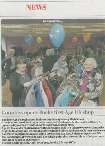 Bucks Herald 5 March 2014 Age UK Buckinghamshire