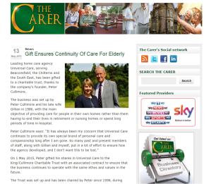 The Carer 13 May 2015 Universal Care