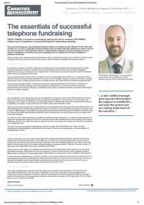 Charities Management June 2013 The Phone Room