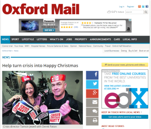 Oxford Mail 19 November 2014