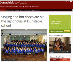 Dunstable Today 2 February 2015 sing2sing