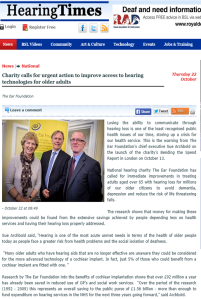 Hearing Times 28 October 2015 The Ear Foundation