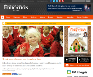 Independent Education Today November 2014 sign2sing