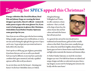 Pick South Oxfordshire December 2013 Robert Stanley Opticians