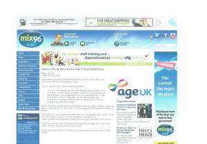 Mix 96 Age UK Buckinghamshire