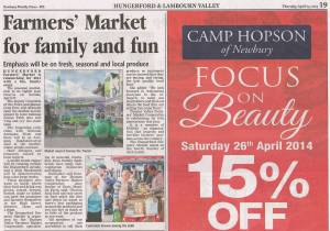 Newbury News April 23 2014 Thames Valley Farmers' Market