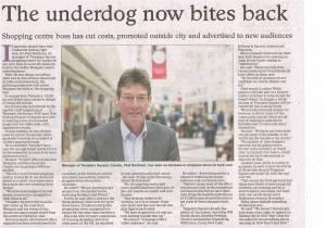 Oxford Times 4 June 2015 Templars Square Shopping Centre