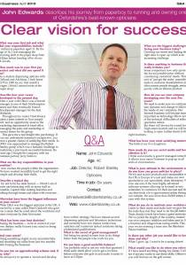 In Business Oxford Times April 2013 Robert Stanley Opticians