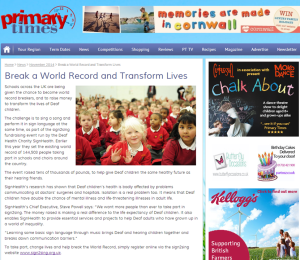 Primary Times October 2014 sign2sing