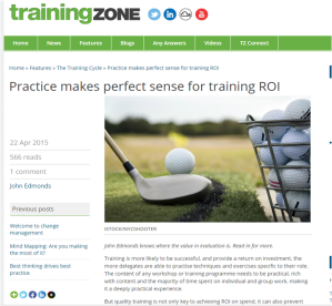 Training Zone April 2015 pearcemayfield