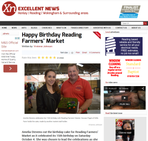 XN News October 2014 Thames Valley Farmers Market